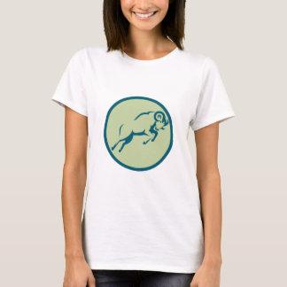 Mountain Sheep Jumping Circle Icon T-Shirt
