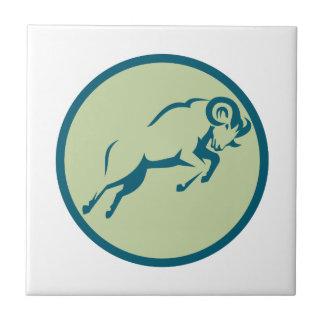 Mountain Sheep Jumping Circle Icon Tile