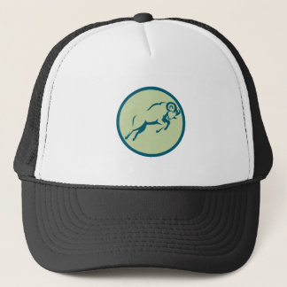 Mountain Sheep Jumping Circle Icon Trucker Hat