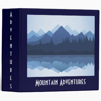 Mountain Silhouette Design Binder