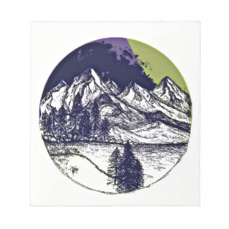 Mountain Sketch Notepad
