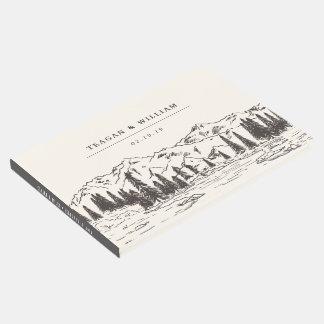 Mountain Sketch Wedding Guest Book