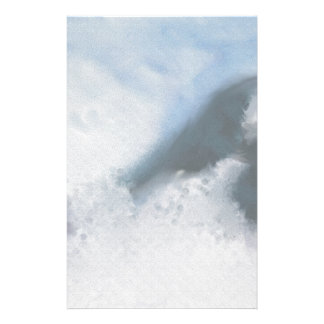 Mountain Snow Art Stationery Paper