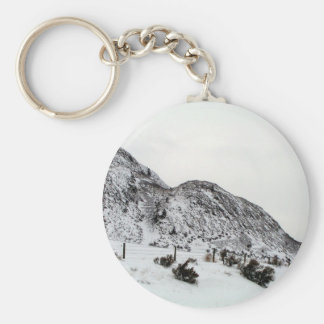 Mountain Snows in Canada Basic Round Button Keychain