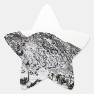 Mountain Snows in Canada Star Sticker