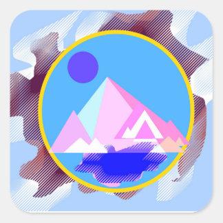 """Mountain"" Square Stickers"