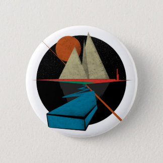 Mountain & Stars 2 Inch Round Button