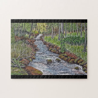 Mountain Stream Acrylic Painting Puzzle