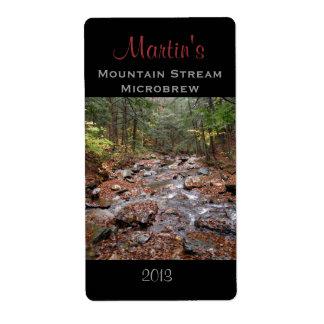 Mountain Stream Homebrew Label