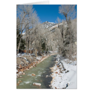 Mountain Stream in Winter Card
