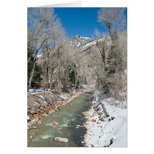 Mountain Stream in Winter Card