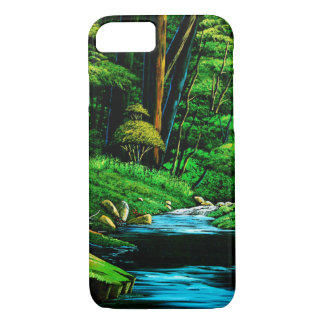 Mountain stream of dark green iPhone 8/7 case