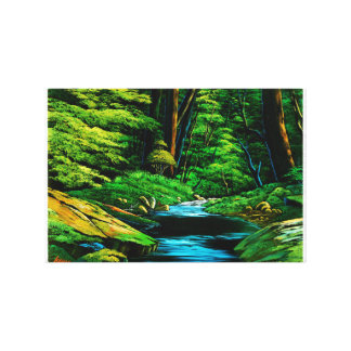 Mountain stream of mountain inner part canvas print