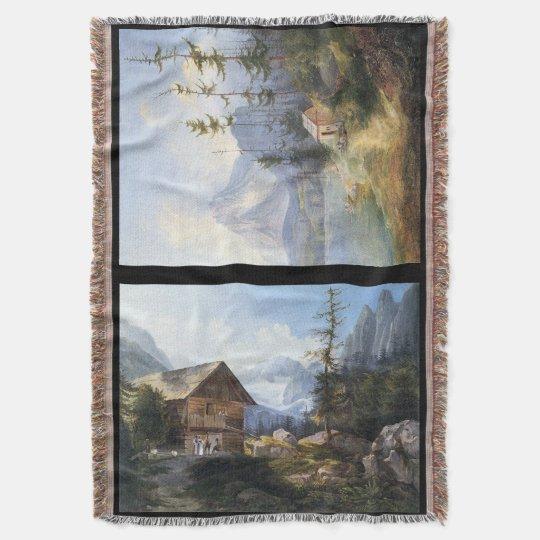 Mountain Stream Wilderness Lake Alps Throw Blanket