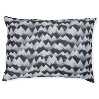 Mountain Stripes Pattern Watercolor Dog Bed