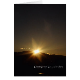 Mountain Sunrise Card
