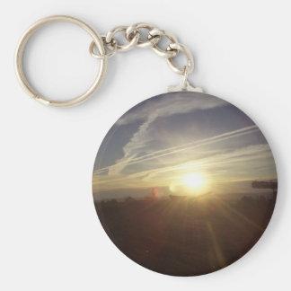 Mountain sunrise keychains