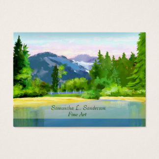 Mountain Sunrise Scene Fine Art Business Card
