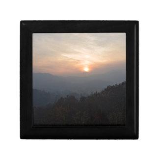mountain sunset in a haze gift box