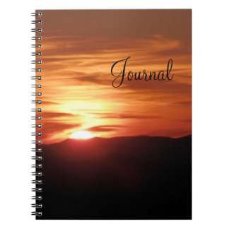 Mountain Sunset Notebook