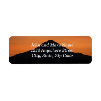 Mountain Sunset Photo Return Address Labels