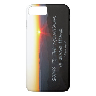 Mountain Sunset Star Shaped / John Muir quote iPhone 7 Plus Case