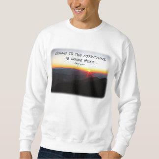 Mountain Sunset Star Shaped / John Muir quote Sweatshirt