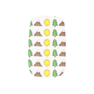 Mountain Sunshine Pine Tree Camping Woods Hiking Minx Nail Art