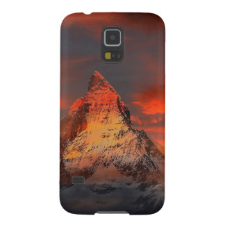 Mountain Switzerland Matterhorn Zermatt Red Sky Galaxy S5 Covers