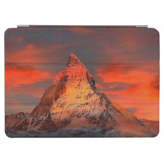 Mountain Switzerland Matterhorn Zermatt Red Sky iPad Air Cover