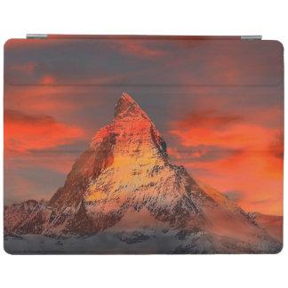 Mountain Switzerland Matterhorn Zermatt Red Sky iPad Cover