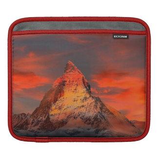 Mountain Switzerland Matterhorn Zermatt Red Sky iPad Sleeve