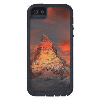 Mountain Switzerland Matterhorn Zermatt Red Sky iPhone 5 Cover