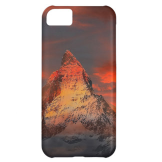 Mountain Switzerland Matterhorn Zermatt Red Sky iPhone 5C Case