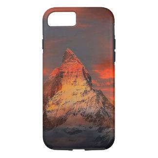 Mountain Switzerland Matterhorn Zermatt Red Sky iPhone 8/7 Case