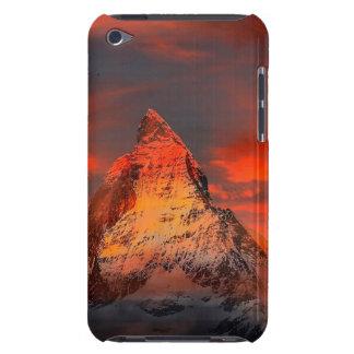 Mountain Switzerland Matterhorn Zermatt Red Sky iPod Case-Mate Cases
