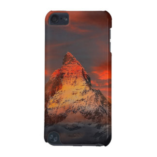 Mountain Switzerland Matterhorn Zermatt Red Sky iPod Touch 5G Covers