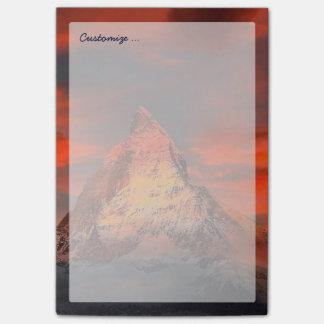 Mountain Switzerland Matterhorn Zermatt Red Sky Post-it® Notes