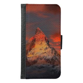 Mountain Switzerland Matterhorn Zermatt Red Sky Samsung Galaxy S6 Wallet Case