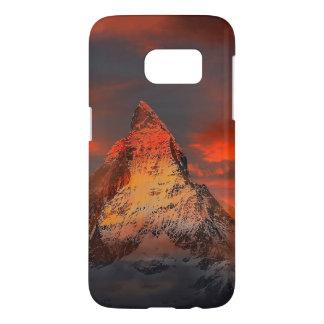 Mountain Switzerland Matterhorn Zermatt Red Sky Samsung Galaxy S7 Case