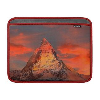 Mountain Switzerland Matterhorn Zermatt Red Sky Sleeve For MacBook Air