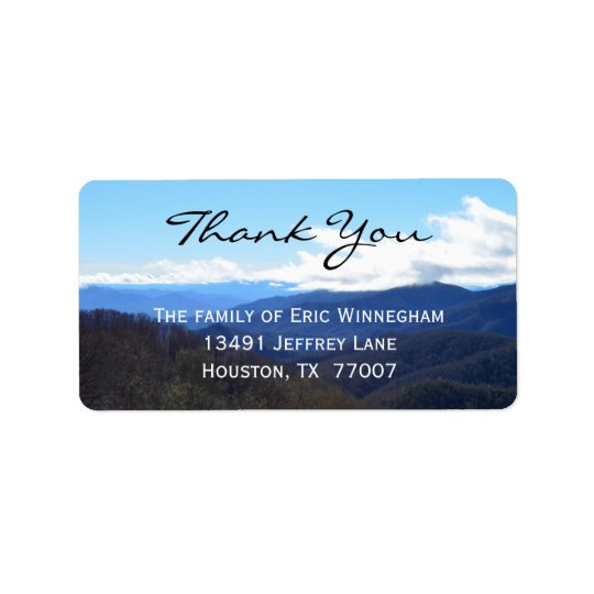 Mountain Thank You Label