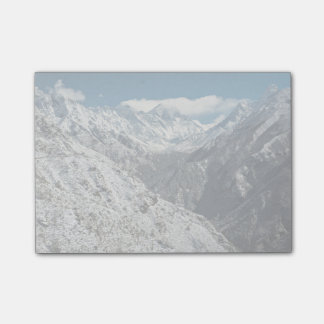 Mountain Themed, Frozen Of Great Mount Everest  In Post-it Notes