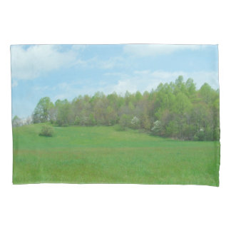 Mountain Top Hay Field Pillowcase