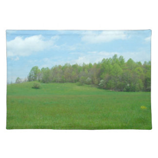 Mountain Top Hay Field Place Mats