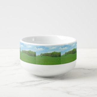 Mountain Top Hay Field Soup Mug