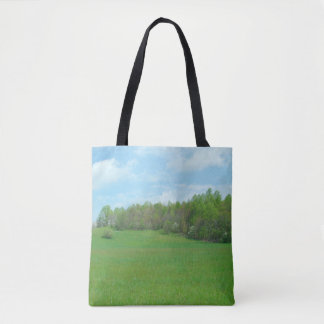 Mountain Top Hay Field Tote Bag