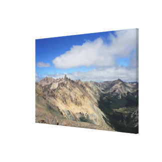 Mountain Tops Of Andes Range, Patagonia Canvas Print