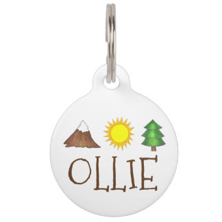 Mountain Tree Sun Camping Camp Outdoor Pet Dog Tag