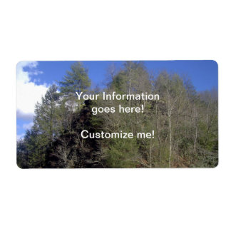 Mountain Trees Shipping Label